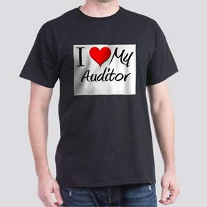 I Heart My Auditor Dark T-Shirt